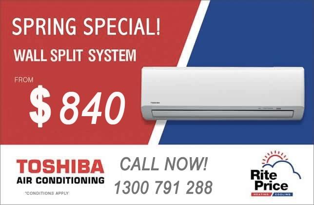 Toshiba split system air conditioner